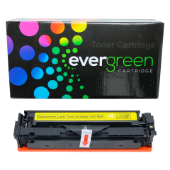 CARTUCHO DE TONER HP CF502A YELLOW M281FDW M254DW COMPATIVEL EVERGREEN 1.3K